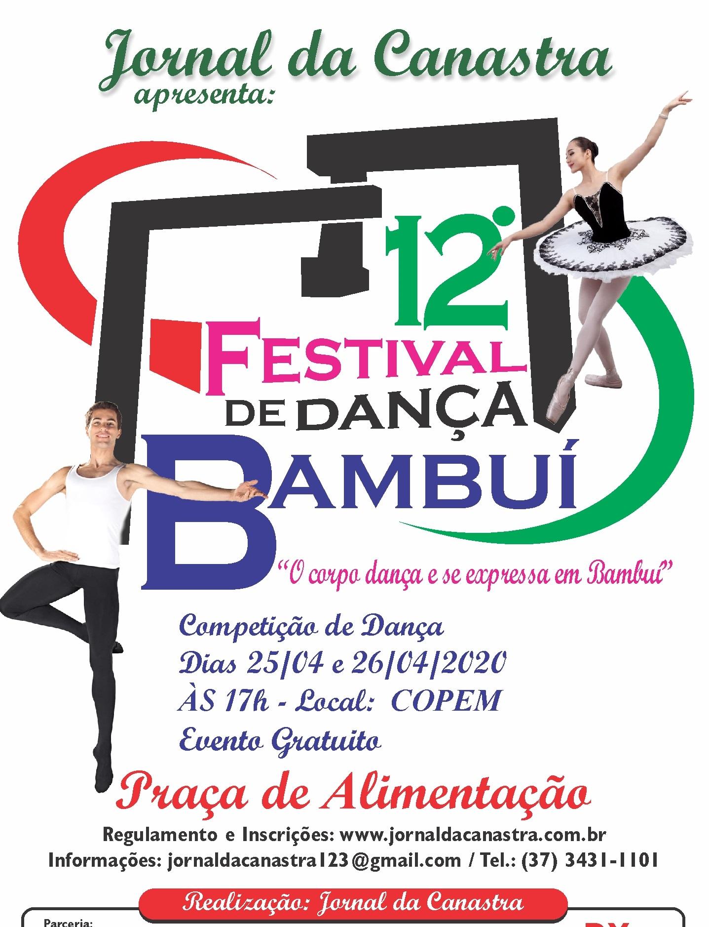 12° Festival de Dança de Bambuí - Venha dançar conosco!